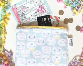 Exclusive Print Handmade Zip Pouch - by TasherellaKitty Designs