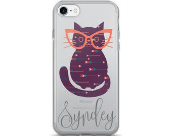 Personalized Hipster Cat iPhone 7/7 Plus Case
