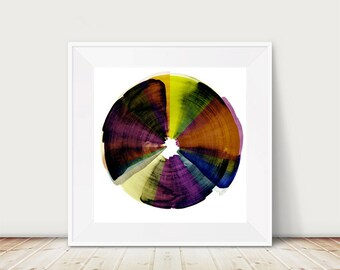Circle abstract, painting print, modern gift, gift for women, home decor, wall art, mixed media art, living room decor, office art, office