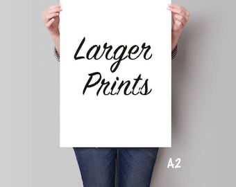 Larger print sizes for my artworks - A2: 420 x 594 mm = 16.5 x 23.4 in