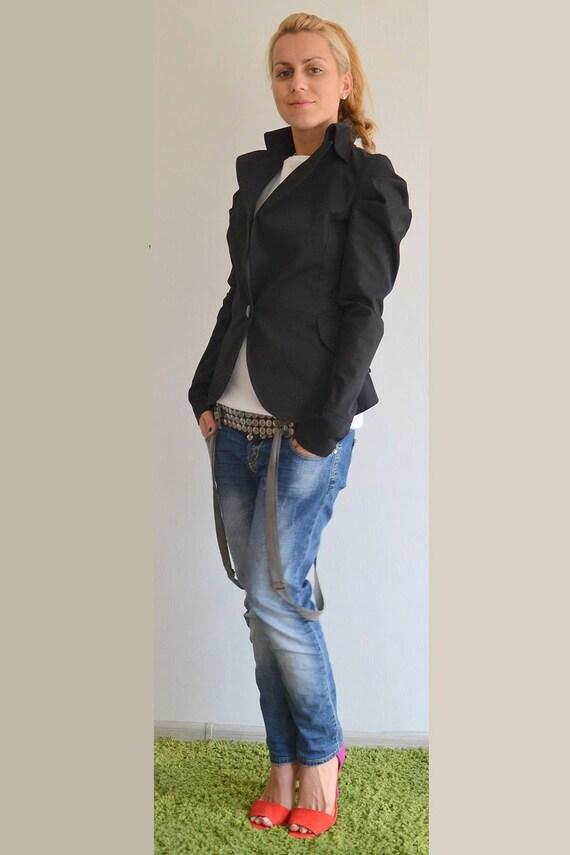 Jacket Blazer Jacket Coat Trench Cotton Clothing Womens Plus Femme Coat Black Trench Plus Size Tailcoat Cardigan Size tq1rqw