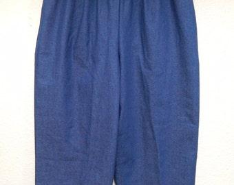 """Alfred Dunner 26"""" Stretch Waist Womens 10 Dark Blue Denim Capris Pants"""