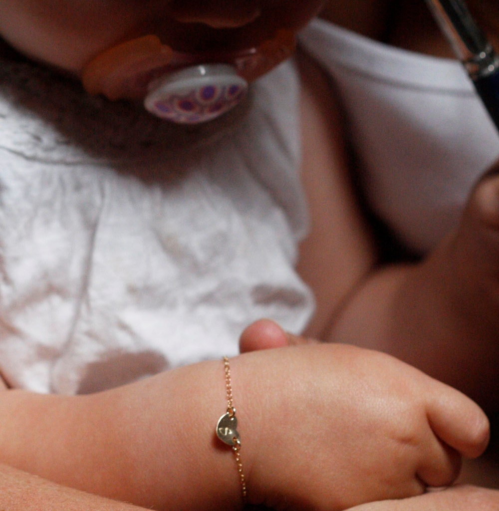 infant gifts bangles my christening baby brown diamond london bracelet first molly min expandable bangle