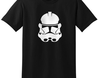 Star Wars Inspired Clone Storm Troopers Helmet Black Gray Grey T-Shirt T-Shirts Tops Women Men Boys Girls Ladies Unisex Fit