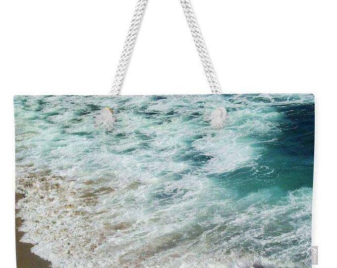 """Weekender Tote Bag """"Ocean Meets Beach"""""""