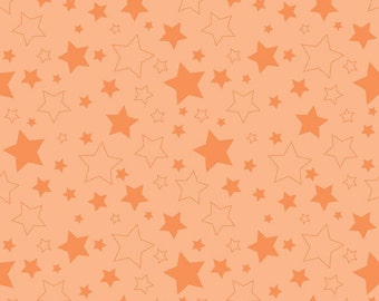 Half Yard Cotton Stars in Orange - Cotton Quilt Fabric - RBD Designers for Riley Blake Designs (W781)
