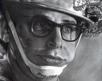 Drawing Print of Rick Moranis as Louis Tully / Vinz Clortho in Ghostbusters