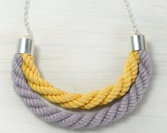 Layered necklace/ rope necklace in candy colors/rope necklace.