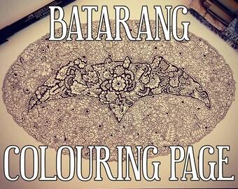 Batarang Detailed Colouring Page