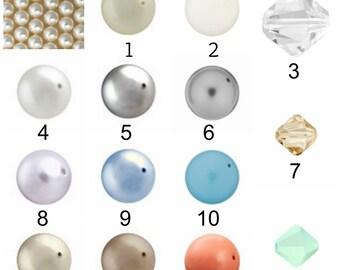 Birthstone pearl ADD ON - ONE Swarovski pearl