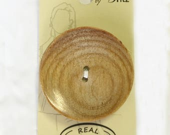 Belle Buttons By Dritz Wood Button Large 44mm (1 3/4 inches) Item # BB619 Round Circular