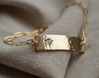 Medical Alert Classic Chain Bracelet - Customize - Personalize