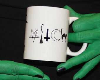 Origional Design, WITCH symbol coffee brew mug 11oz wicca SALEM.