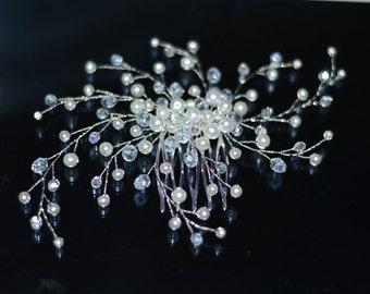 Wedding hair comb, pearl hair comb, bridal hair accessories, bridal hair comb, Wedding comb, Decorative Comb, hair jewelry, Bridel headdress