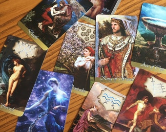 old world art tarot, used, PLEASE look at all the photos!