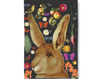 Bunny Rabbit Tea Towel/ Dish Towel
