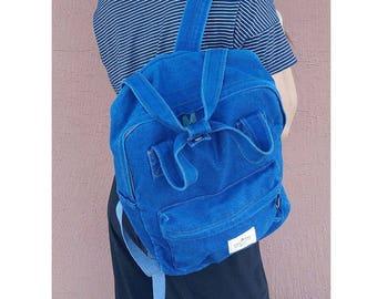 Womens Denim Backpack School Bag College Bag Daypack 215