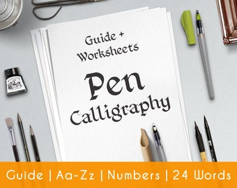 Hand Calligraphy | Worksheets | Printable practice sheets | Guide | Beginner | Hand brush Lettering workbook | Learn Calligraphy | P5