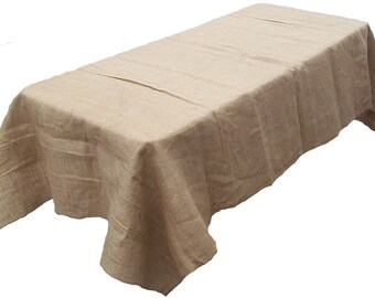 "70"" x 90"" Burlap Tablecloth"
