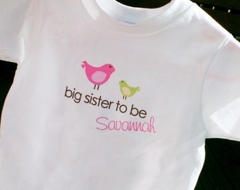 Birdie Collection - big, middle, little sister and brother mix and match T-SHIRTS and ONESIES