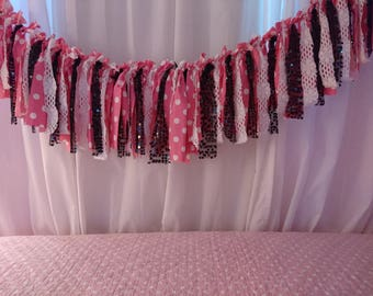 Pink, White, Black, Lace & Sequin Photo Prop Banners