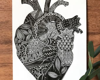 Anatomy Series: Heart Print