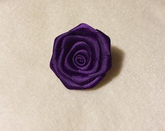 purple flower lapel pin