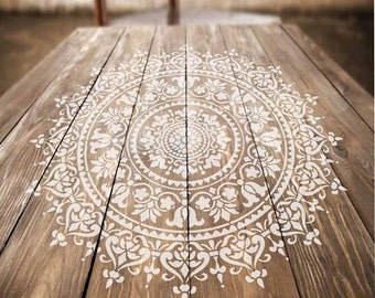 Mandala Stencil Prosperity   Mandala Stencil For Furniture, Walls, Or  Floors   DIY Home