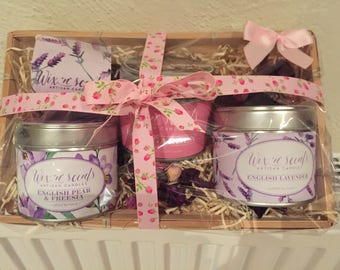 Candle Hamper of scented candles