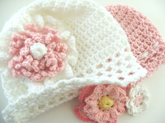Simple baby hat crochet pattern fast and easy instant simple baby hat crochet pattern fast and easy instant download crochet pattern baby cap with flowers dt1010fo