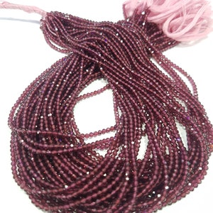 """ON SALE pink Rhodolite garnet Gemstone Beads, Micro Faceted Round Beads, Size 2/3 mm, 13"""" Strand. AAA Amazing quality 100 % Natural"""