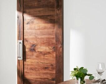 Custom Built Solid Walnut Barn door