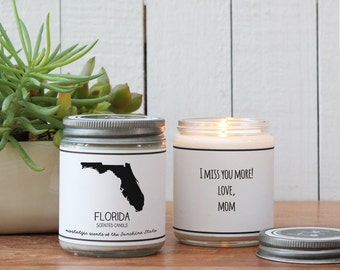 Florida Scented Candle - Homesick Gift   State Scented Candle   Florida Gift   College Student Gift   State Candles   I Love Florida