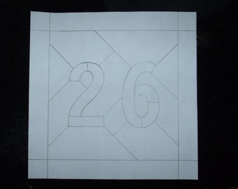 Custom Stained Glass Address Plaque