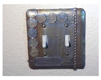 Polymer clay switch plate cover