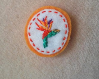 Bird of Paradise Flower (Patch, Pin, Brooch, or Magnet)