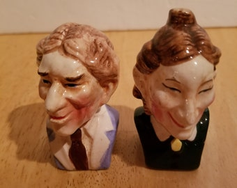 Vintage Pair of Cats Salt and Pepper Shakers