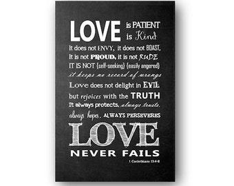 Love is Patient Verse Chalkboard Digital Download