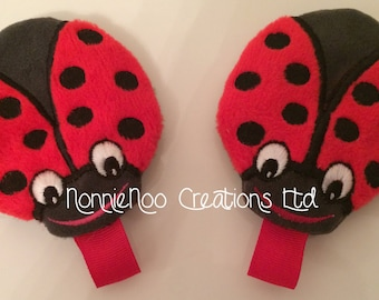 ITH Ladybug zippered purse for the 4x4 hoop in pes, dst, hus, exp, jef, vip, vp3, and xxx
