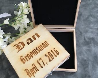 SET OF 6 Personalized Cigar Box/Keepsake box/ Groomsman/Groomsman Gift