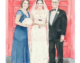 Custom couple portrait.Custom portrait.Couple portrait.Wedding.Wedding portrait.Personalized painting
