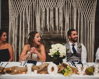 Boho Wedding Ceremony Backdrop Macrame for an Arch, Arbor, Altar Rustic Wedding Decor