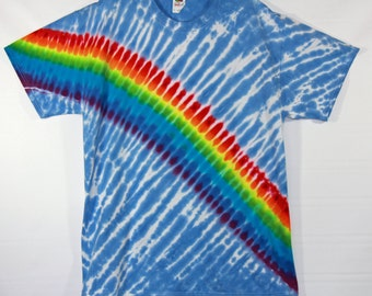 Rainbow Tie Dye Short Sleeve Adult XL