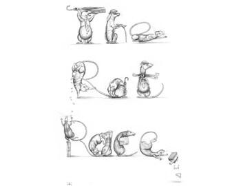 Art print - 'The Rat Race' - in Rats