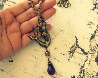 Mermaid Necklace For Women, Mermaid Accessories, Mermaid Jewelry, Mermaid Gifts, Gifts For Mermaid Lovers, Salvina's Treasures