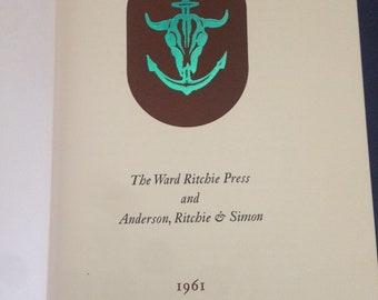 WARD RITCHIE PRESS  Ltd 1/1000 Fine press printing / history bibliography 1961
