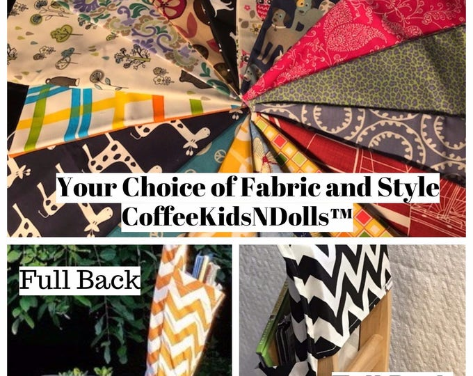 Chair Pockets Seat Sacks // Full or Tall Back // School Supply List // LiMiTeD EdItIoN PrInT FaBrIcS  Elementary School // All Expandable