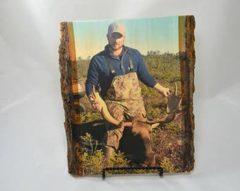 Hunting Gifts for Dad, Hunting Gifts for Him , Fathers Day 2017, Custom Wood Photo Transfer, Outdoor Pictures, Hunting Gifts, Deer Pictures