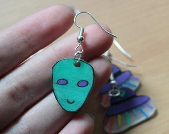 Alien UFO Earrings