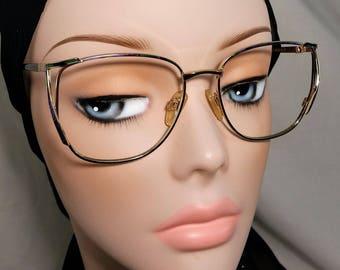 Vintage Eyeglass Frame, Cadore Moda, Green, Purple and Gold